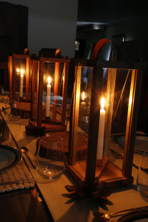 Houtkapper's Taylor Lantern can be used in any setting from camping to formal dinners